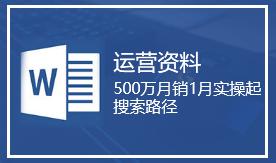 500万月销1月实操起搜索路径